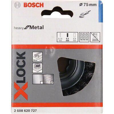 Bosch X-LOCK - Heavy Serisi Metal İçin Burgulu Tel Fırça 75*0,5 mm BOSCH