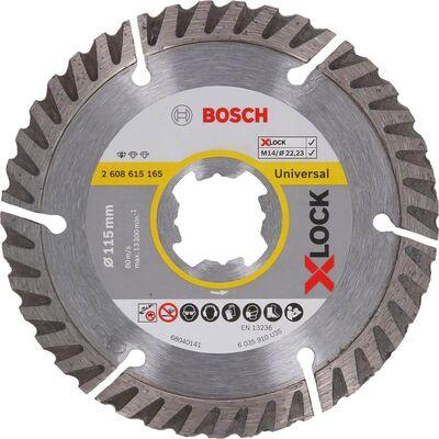 Bosch X-LOCK - Standard Seri Genel Yapı Malzemeleri İçin Elmas Kesme Diski 115 mm