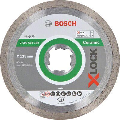 Bosch X-LOCK - Standard Seri Seramik İçin Elmas Kesme Diski 125 mm