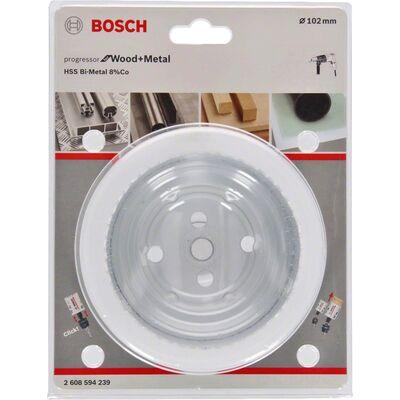 Bosch Yeni Progressor Serisi Ahşap ve Metal için Delik Açma Testeresi (Panç) 102 mm BOSCH