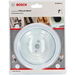 Bosch Yeni Progressor Serisi Ahşap ve Metal için Delik Açma Testeresi (Panç) 108 mm - Thumbnail