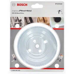 Bosch Yeni Progressor Serisi Ahşap ve Metal için Delik Açma Testeresi (Panç) 114 mm - Thumbnail