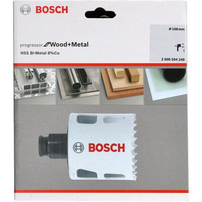 Bosch Yeni Progressor Serisi Ahşap ve Metal için Delik Açma Testeresi (Panç) 168 mm BOSCH