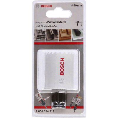 Bosch Yeni Progressor Serisi Ahşap ve Metal için Delik Açma Testeresi (Panç) 40 mm BOSCH