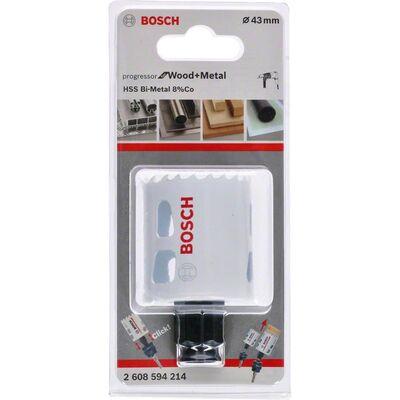 Bosch Yeni Progressor Serisi Ahşap ve Metal için Delik Açma Testeresi (Panç) 43 mm BOSCH