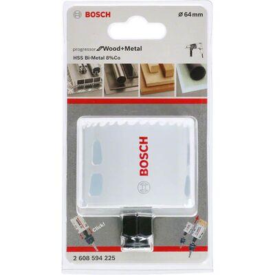 Bosch Yeni Progressor Serisi Ahşap ve Metal için Delik Açma Testeresi (Panç) 64 mm BOSCH
