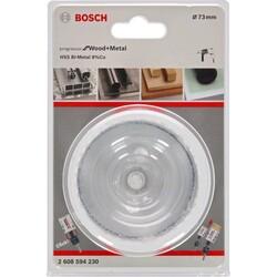 Bosch Yeni Progressor Serisi Ahşap ve Metal için Delik Açma Testeresi (Panç) 73 mm - Thumbnail