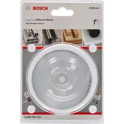 Bosch Yeni Progressor Serisi Ahşap ve Metal için Delik Açma Testeresi (Panç) 89 mm - Thumbnail