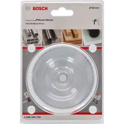 Bosch Yeni Progressor Serisi Ahşap ve Metal için Delik Açma Testeresi (Panç) 92 mm BOSCH