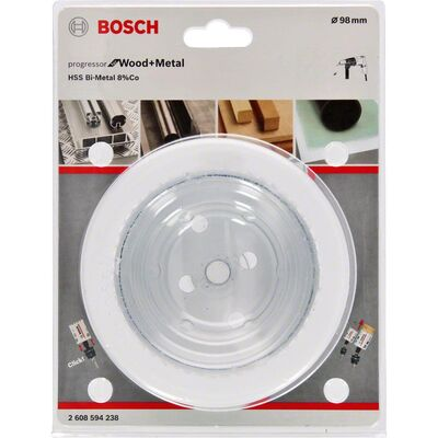 Bosch Yeni Progressor Serisi Ahşap ve Metal için Delik Açma Testeresi (Panç) 98 mm BOSCH