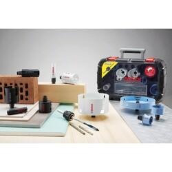 Bosch Yeni Progressor Serisi Delik Açma Testeresi (Panç) Seti 9 Parça Ø 20-25-32-38-51-64 mm - Thumbnail
