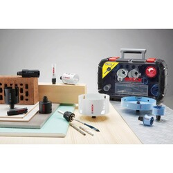 Bosch Yeni Progressor Serisi Delik Açma Testeresi (Panç) Seti 9 Parça Ø 22-29-35-44-51-64 mm - Thumbnail