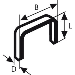 Bosch Zımba Teli Tip 53 11,4*0,74*10 mm - Thumbnail