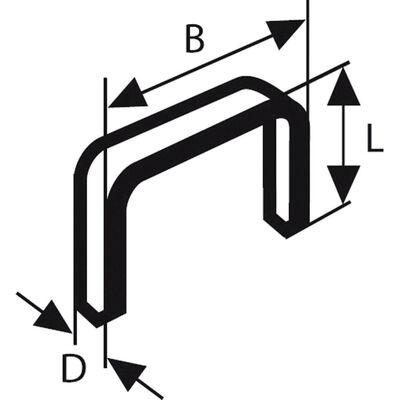 Bosch Zımba Teli Tip 53 11,4*0,74*12 mm