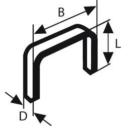 Bosch Zımba Teli Tip 53 11,4*0,74*14 mm - Thumbnail