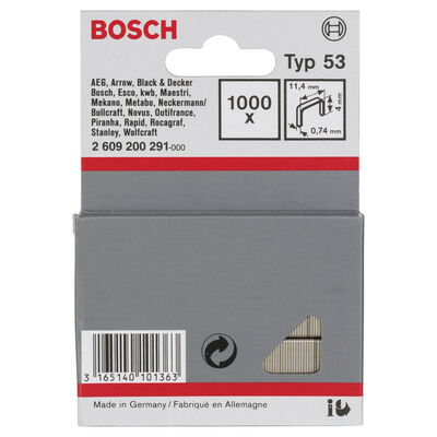 Bosch Zımba Teli Tip 53 11,4*0,74*4 mm BOSCH