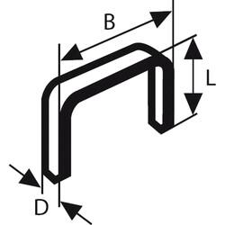 Bosch Zımba Teli Tip 53 11,4*0,74*6 mm - Thumbnail