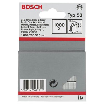 Bosch Zımba Teli Tip 53 11,4*0,74*6 mm BOSCH