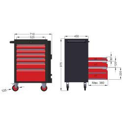 Ceta Form A01-06 Gt Plus Takım Arabası (Boş) - 6 Çekmeceli Dolap - Thumbnail