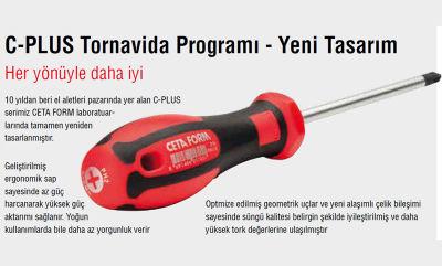 Ceta Form G03-001-080 İzoleli Pozitriv Uç Tornavida(Vde)Pz1X80Mm Ceta Form