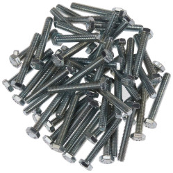 Civtec M14X60 Din 933 8.8 Kalite Akb Çelik Cıvata Beyaz 10 Adet - Thumbnail