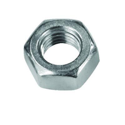 Civtec M18 Din 934 Altı Köşe Somun Çelik Beyaz 25 Adet