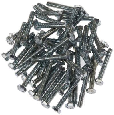 Civtec M5X40 Din 933 8.8 Kalite Akb Çelik Cıvata Beyaz 100 Adet Civtec