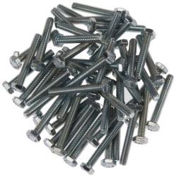 Civtec M7X40 Din 933 8.8 Kalite Akb Çelik Cıvata Beyaz 350 Adet - Thumbnail