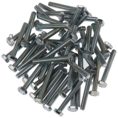 Civtec M8X100 Din 933 8.8 Kalite Akb Çelik Cıvata Beyaz 100 Adet Civtec