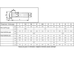 Civtec Din 660 14X90 Bombe Başlı (BB) Perçin Beyaz 1 Kg - Thumbnail
