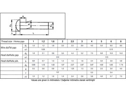 Civtec Din 660 6X45 Bombe Başlı (BB) Perçin Siyah 1 Kg - Thumbnail