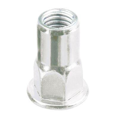 Civtec M8 Perçin Somunu -Yarım Altıköşe Flanş Kafa Beyaz 500 Adet