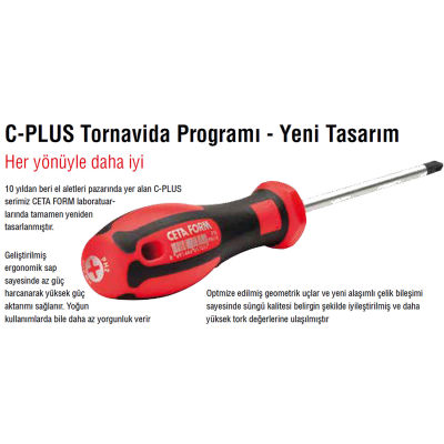 Ceta Form F18-005-060 C-Plus Torx Uçlu Tornavida T5X60Mm Ceta Form