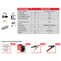 Gekamac Power Arc 205 İnvertör Kaynak Makinesi - Thumbnail
