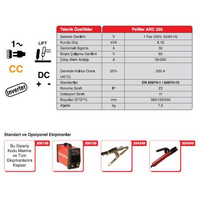 Gekamac Power Arc 205 İnvertör Kaynak Makinesi Gekamac