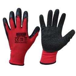 Guard Kırmızı Siyah Lateks Kaplı Polyester Örme İş Eldiveni No:10 - Thumbnail
