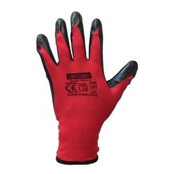 Guard Kırmızı Siyah Nitril Kaplı Polyester Örme İş Eldiveni N0:10 - Thumbnail