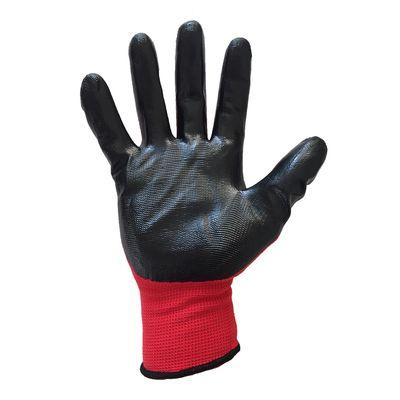 Guard Kırmızı Siyah Nitril Kaplı Polyester Örme İş Eldiveni N0:10 Guard