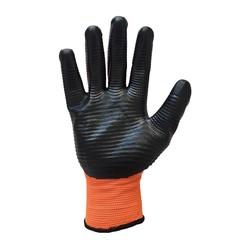 Guard Turuncu Siyah Nitril Kaplı Polyester Örme İş Eldiveni No:10 - Thumbnail