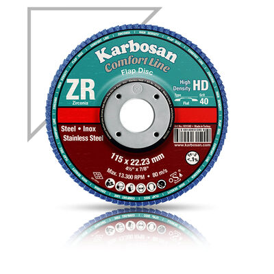 Karbosan 180x22x80 Kum Flap Disk ZR