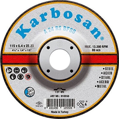Karbosan 180x8.0x22.23 NK Metal Taşlama Diski