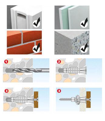 Tox 6X36 Trika Vidalı Çok Amaçlı Dübel (011 701 05 1) 10 Adet Tox